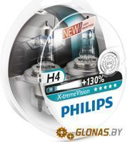 Philips H4 X-Treme Vision +130% 2шт