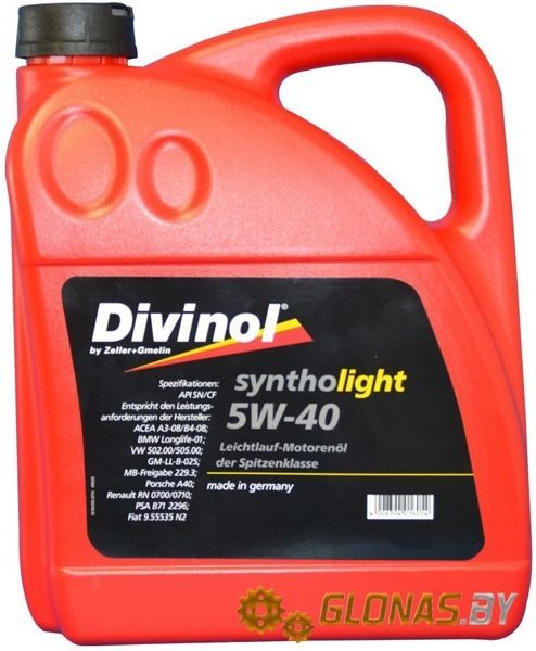 Divinol Syntholight 5W-40 5л