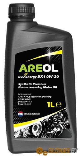 Areol Eco Energy DX1 0W-20 1л