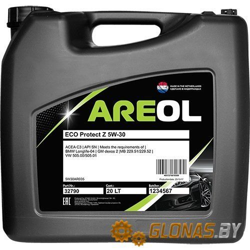Areol ECO Protect Z 5W-30 20л