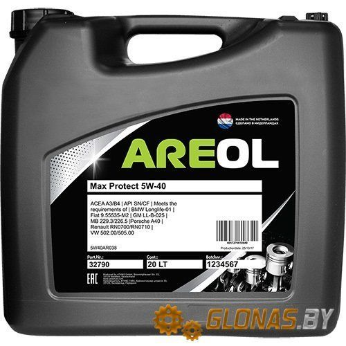 Areol Max Protect 5W-40 20л