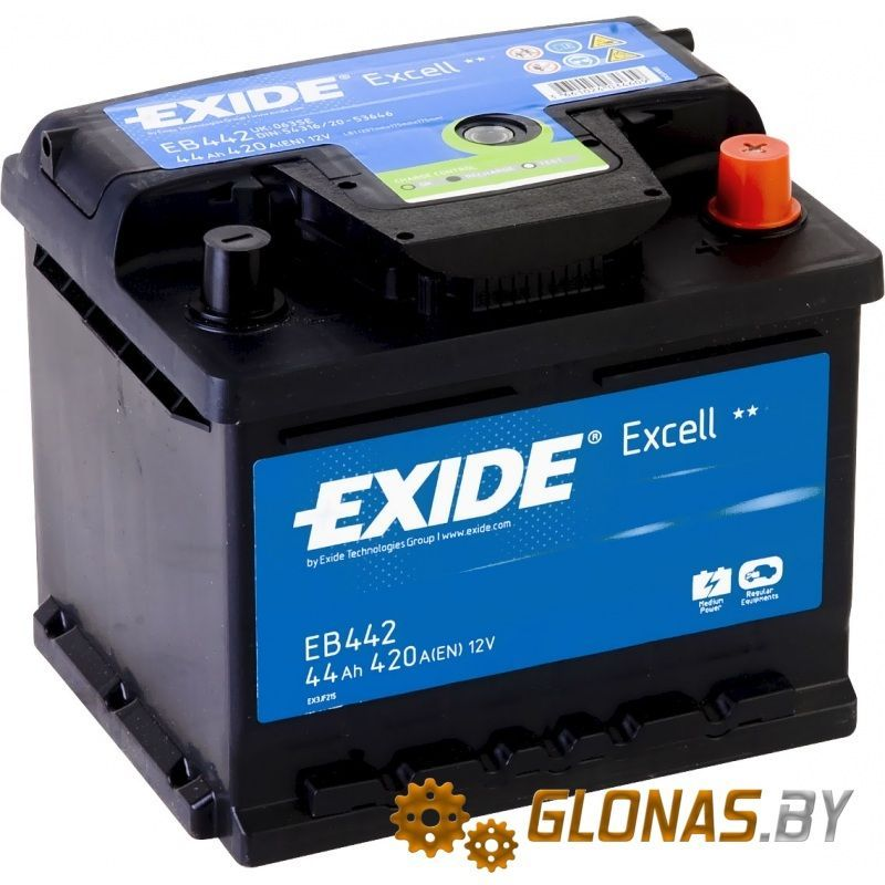Exide Excell EB442 R+ (44Ah)