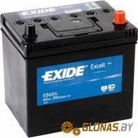 Exide Excell EB604 R+ (60Ah)