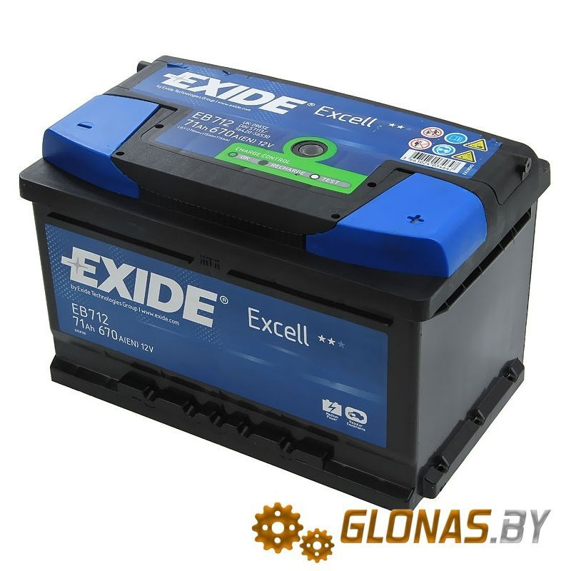Exide Excell EB712 R+ (71Ah)