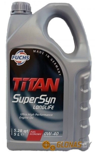 Fuchs Titan Supersyn Longlife 0W-40 5л